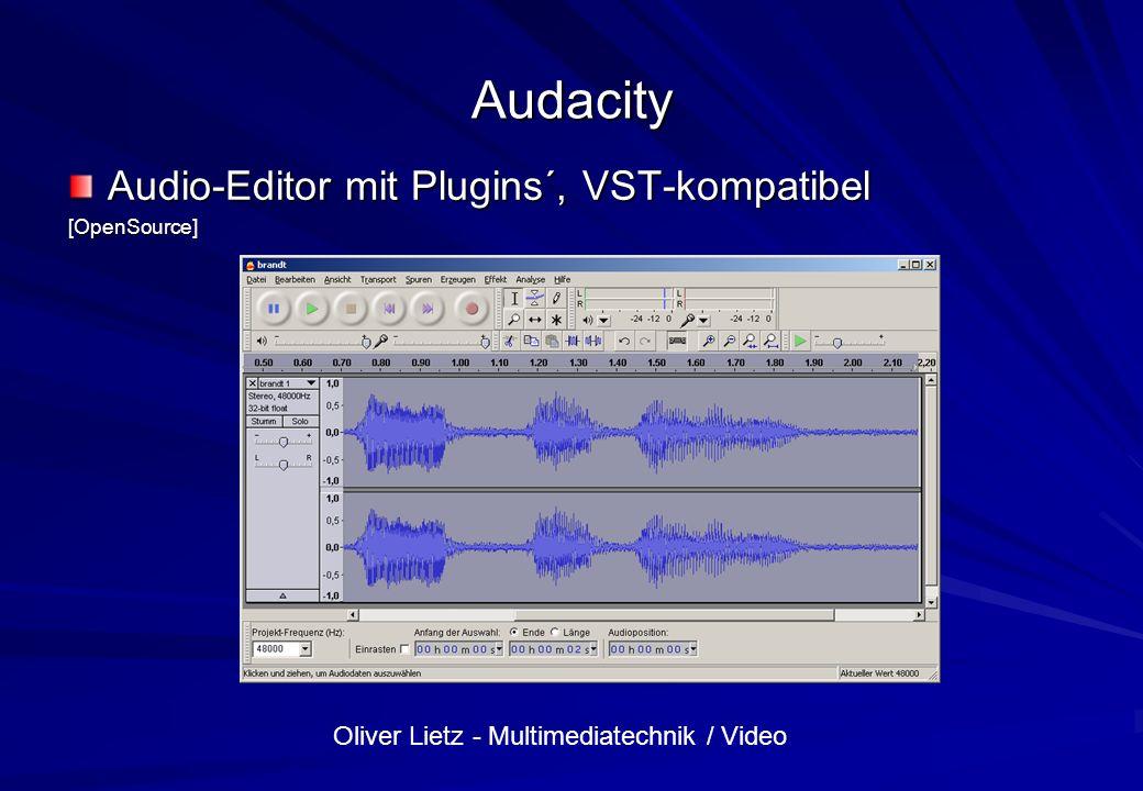 Audacity Audio-Editor mit Plugins´, VST-kompatibel [OpenSource]